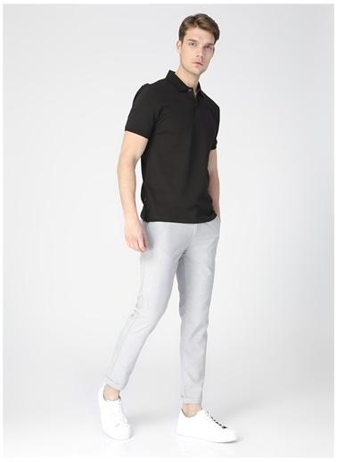 Pierre Cardin Pierre Cardin Erkek Düz Siyah Slim Fit Polo Yaka T-Shirt Siyah